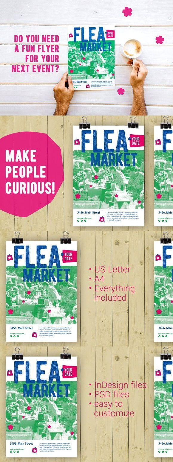 flea market flyer template indesign pinterest flyer template