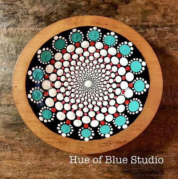 Bowl with Teal Dots