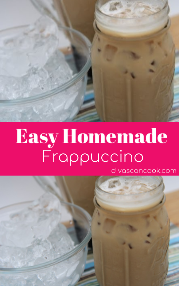 The Easiest Homemade Frappuccino Ever Recipe Homemade Frappuccino Frappuccino Recipe Homemade Iced Coffee