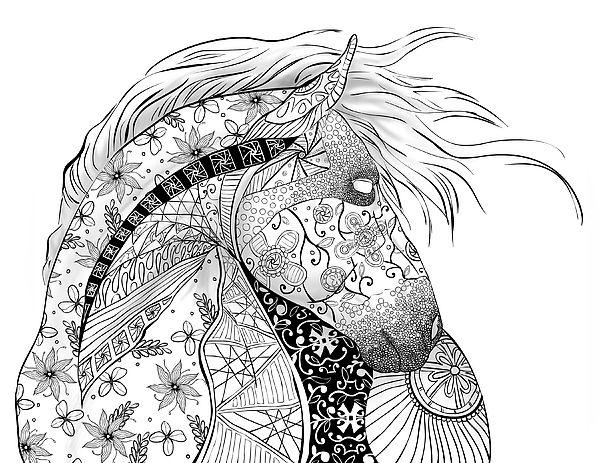 pferde ausmalbilder mandala - 28 images - malvorlagen