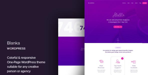 Blanka - One Page WordPress Theme | Wordpress