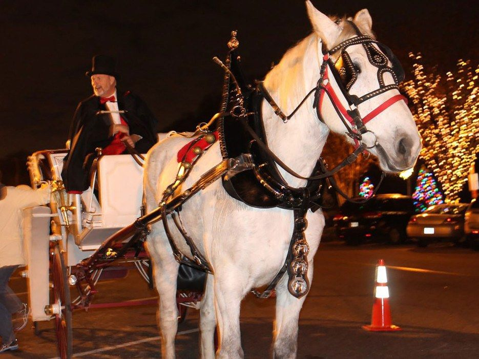 The Forum, an outdoor mall in Norcross, GA, offers a beautiful landscape of holiday decor, carriage rides, carolers, and hot chestnuts to ensure you have a thorougly Christmas experience.