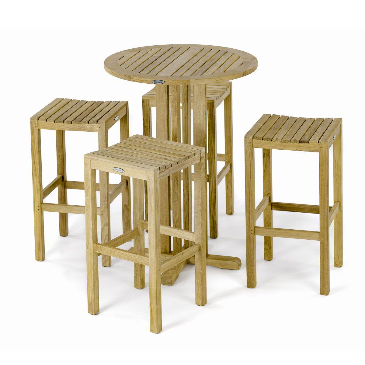 Groovy Round Backless Teak Barstool Set In 2019 Teak Cocktail Creativecarmelina Interior Chair Design Creativecarmelinacom
