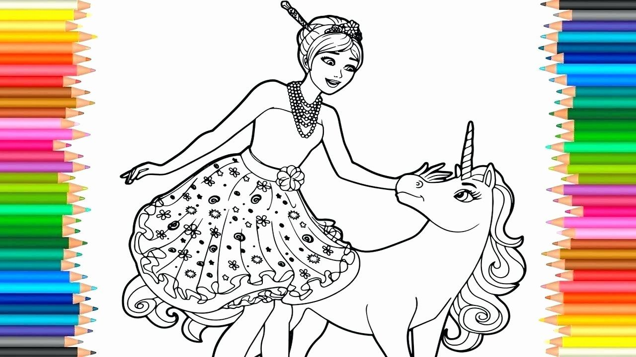 Unicorn Princess Coloring Page