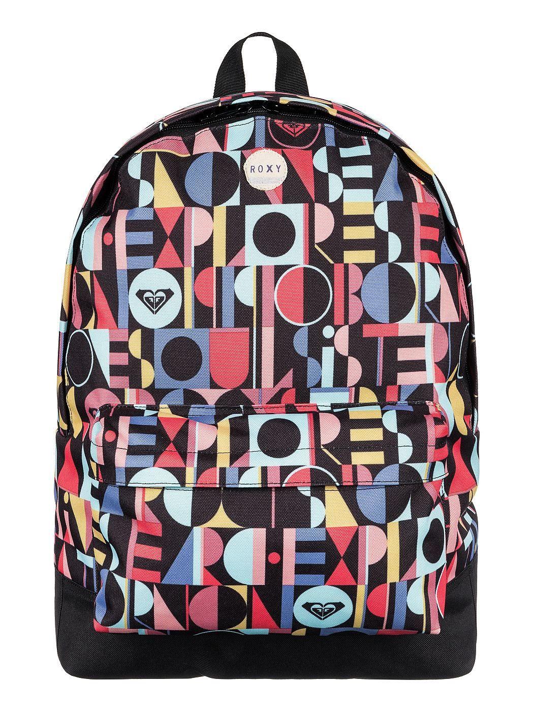 Sugar Baby - Roxy Rucksack mit All-over Print für Frauen  Sugar Baby Rucksack von ROXY. Die Eigenschaften dieses Produkts sind: Rucksack mit All-over Print, 1 Hauptfach und Reißverschlusstasche vorne. Dieses Produkt besteht aus: 100% Polyester.  Merkmale:  Rucksack mit All-over Print, 1 Hauptfach, Reißverschlusstasche vorne, Verstellbar, Gepolsterte Schultergurte,  Dieses Produkt besteht aus:  ...