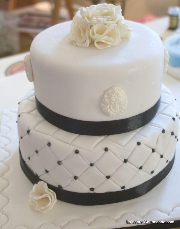 Diy Gateau De Mariage Atelier Wedding Cake Black White