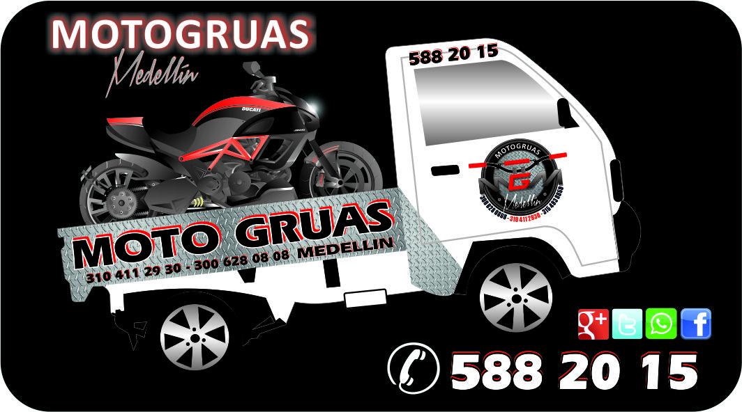 Desde $ 20.000 Grúa para motos y cuatrimotor en Medellín, área Metropolitana y todo el Departamento de Antioquia.