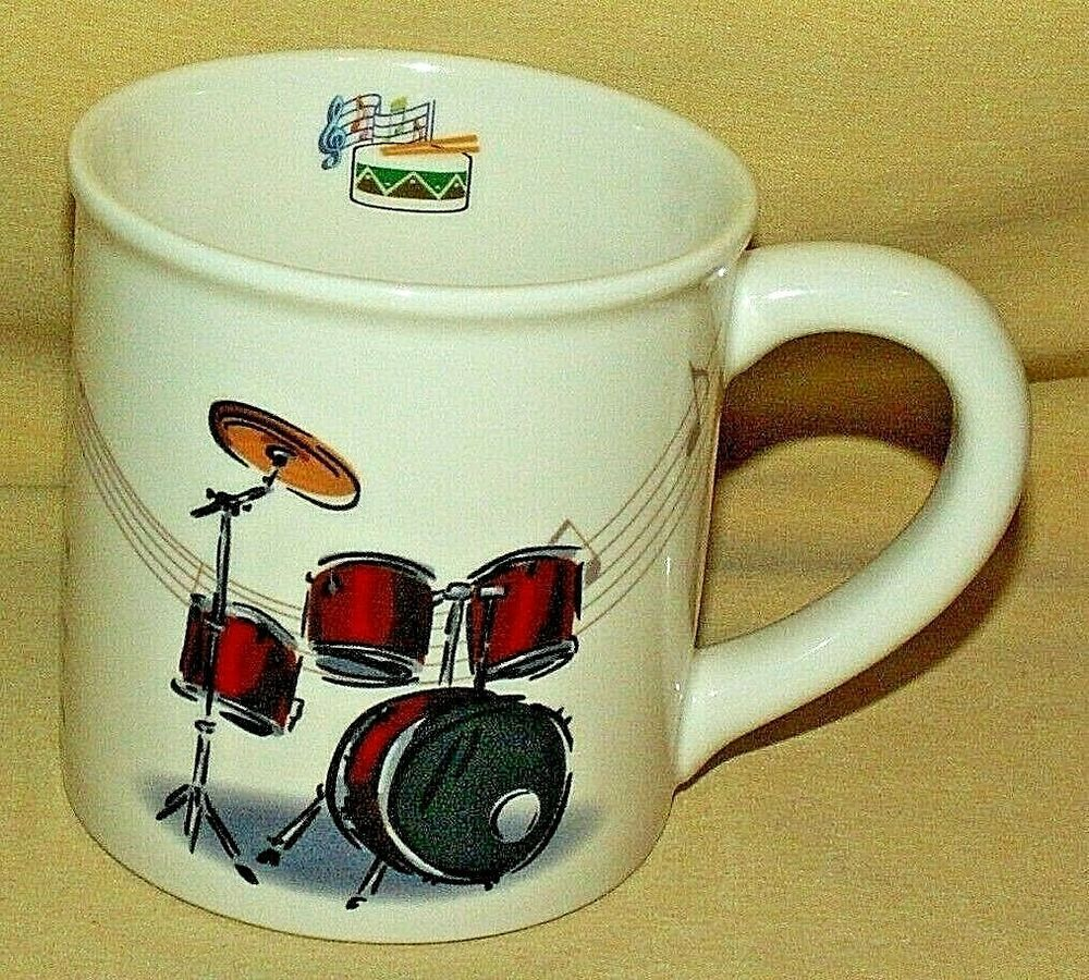 Drum mug lifestyle home golden tadco coffee tea cup snare