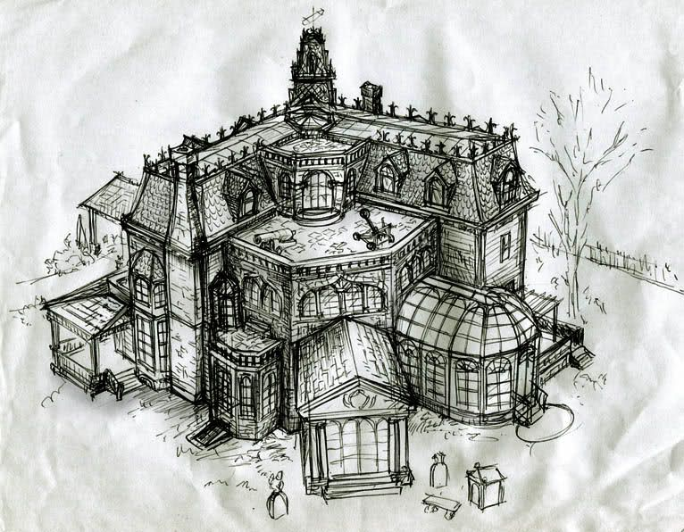 The addams family house model