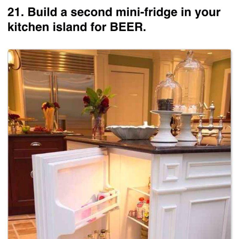 Mini bar fridge in kitchen Housey ideas Pinterest Kitchens