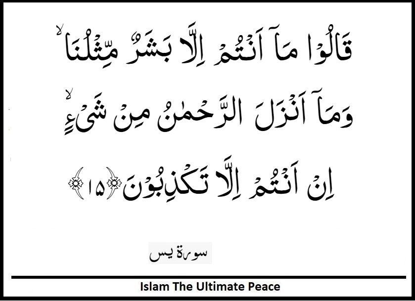 Surah Yasin Verse 15 Islamic Quotes Teachings Verses