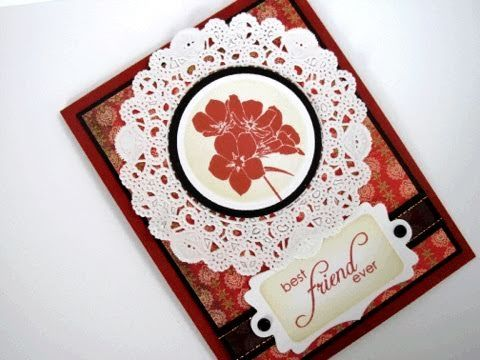 making circle frames and borders using a corner punch youtube