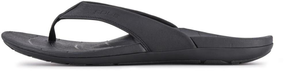 SOLE Men's Baja Flip-Flops Black 11