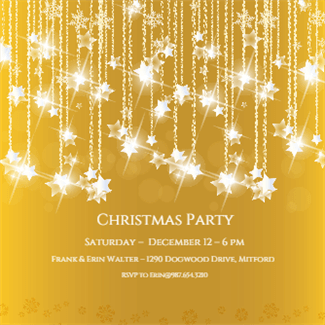 Falling Stars Printable Invitation Template Customize Add Text And Photos Print Or For Free