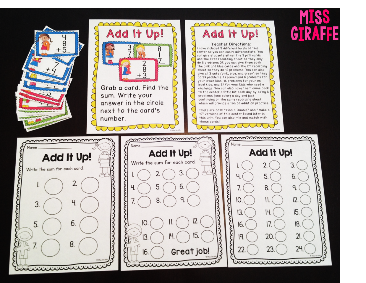 Adding 3 Numbers Games And Math Centers To Make Adding 3