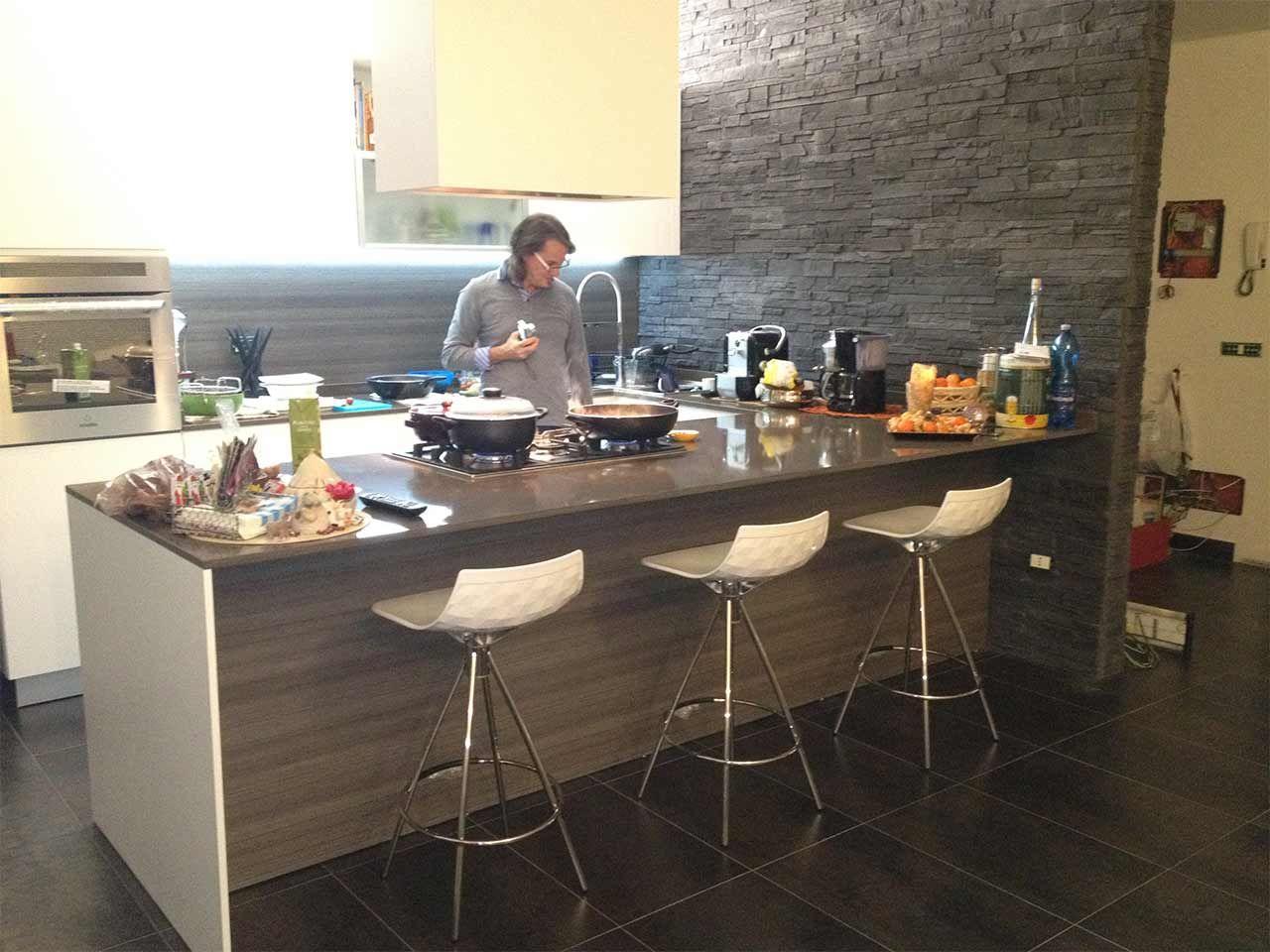 cucine con penisola - cerca con google | cucine | pinterest ... - Cucina Bianca Con Isola