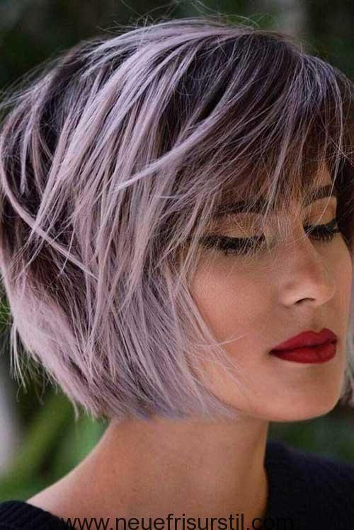 lila kurze haare farbe kurzes haar in 2019 frisuren moderne kurze frisuren und frisuren kurz