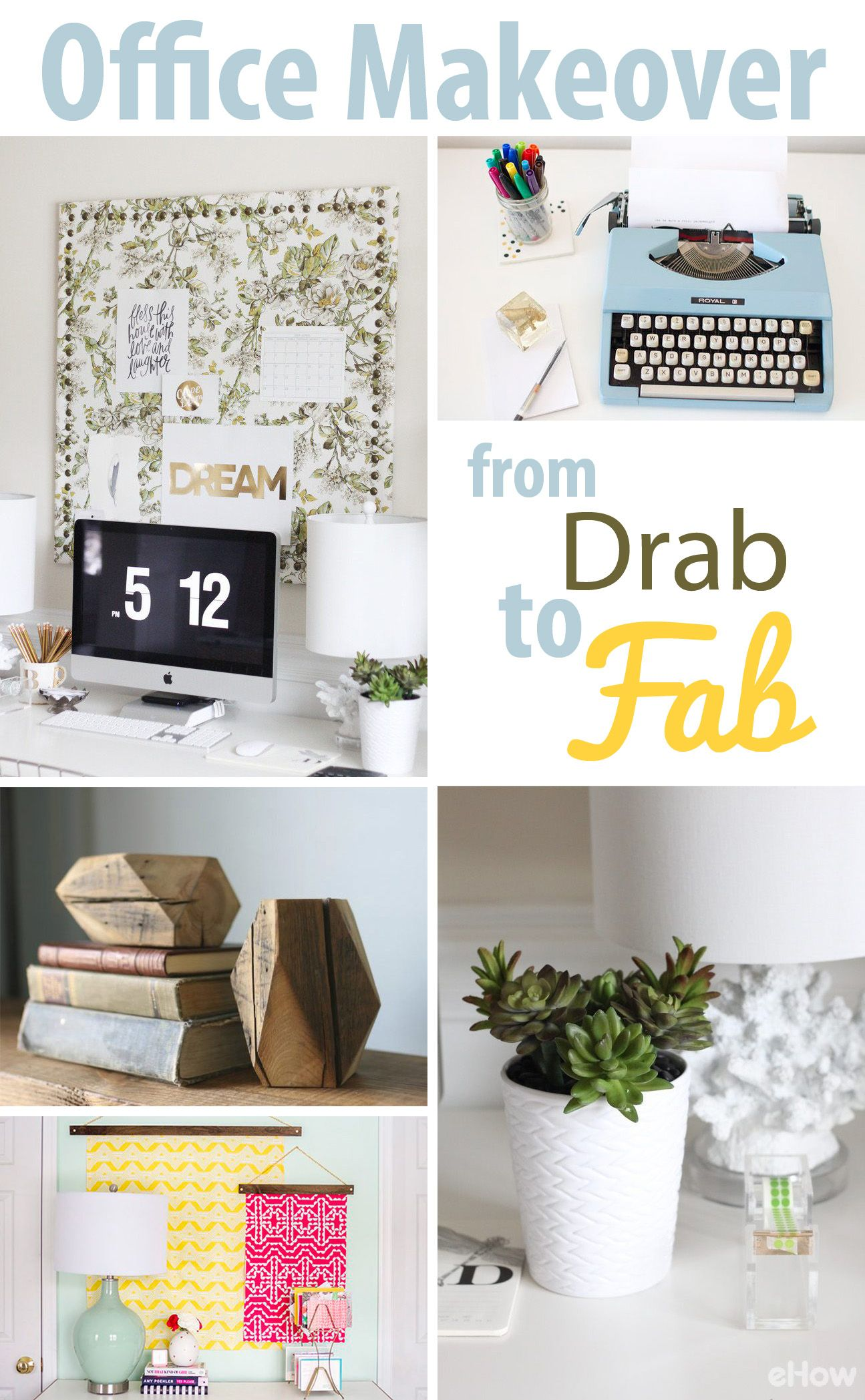 DIY Office Makeover From Drab to Fab