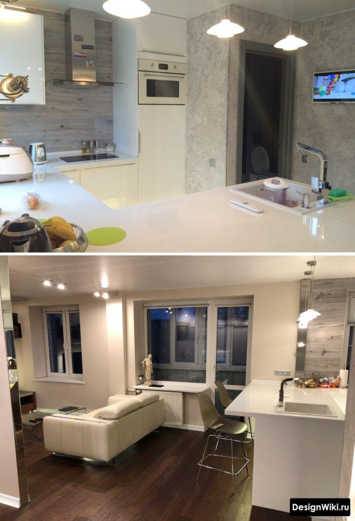 Дизайн Кухни-гостиной: 107 Фото (реальные) и 6 Идей ...