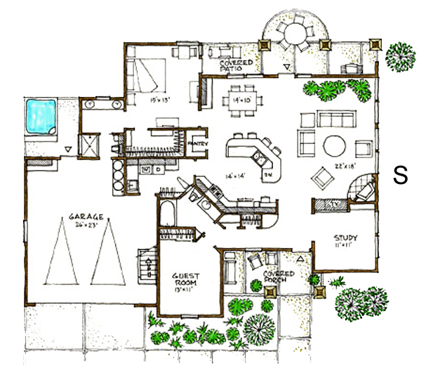 Green Home Design Plans And Concepts Bend Or Green House Design Building Plans House Contemporary House Plans