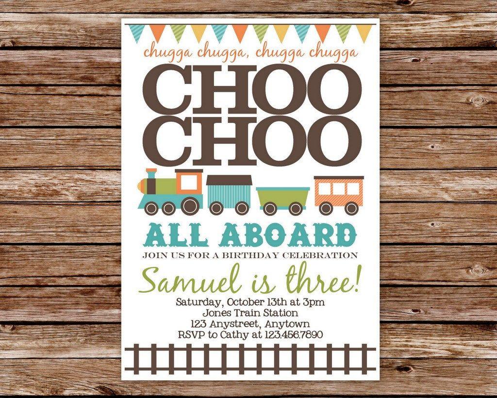 Train Invitation, Train Birthday Invitation, Train Party | Party ...