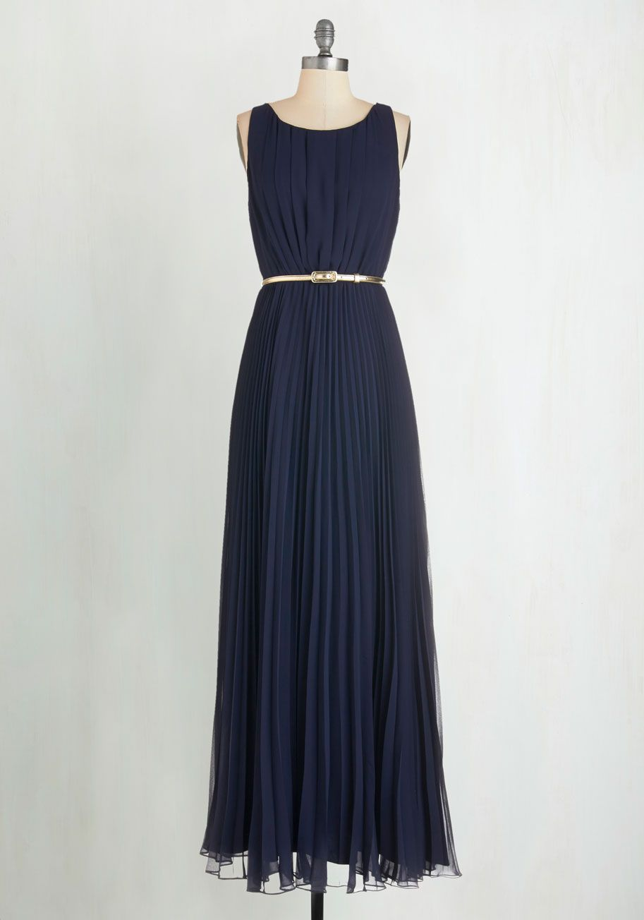 Long navy dress for wedding  Ceremonial Companion Maxi Dress in Navy  Navy gown Friend wedding