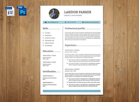 Professional Resume Template 3 Page CV Template With by sisresume - making a resume cover letter