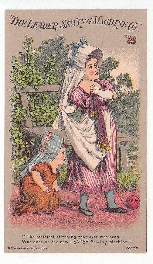 Trade card for The Leader Sewing Machine Co. and Waterville, Maine dealer  [4709