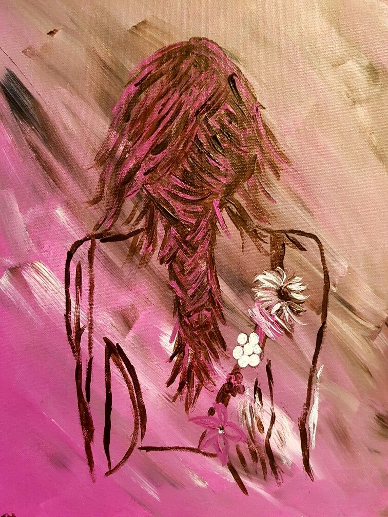 In the pink #painting by rmartin #acrylic