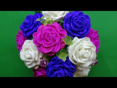 Twisted Rose Paper Flower Hoa Hồng Xoắn Giấy Minh Wind Youtube Paper Flowers Craft Crepe Paper Roses Paper Flower Kit