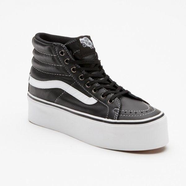 vans sk8 hi platform leather sneakers