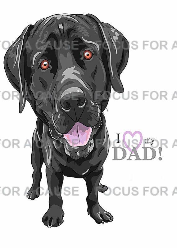 Black Labrador Retriever Dog Father S Day Card By Focusforacause 3 75 Black Dogs Breeds Labrador Retriever Black Labrador