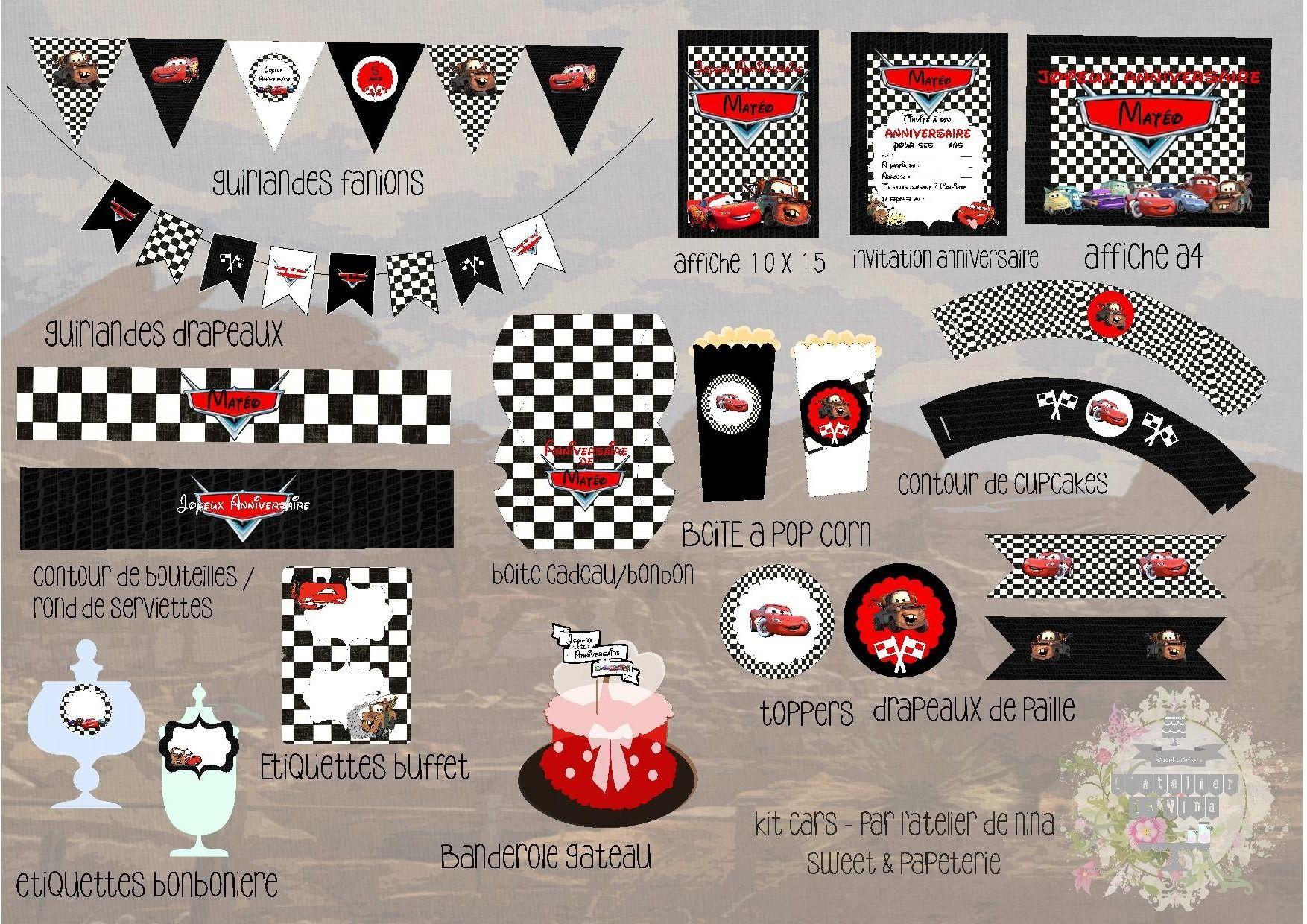 Kit de papeterie décorative - Printables sur le thème de ...