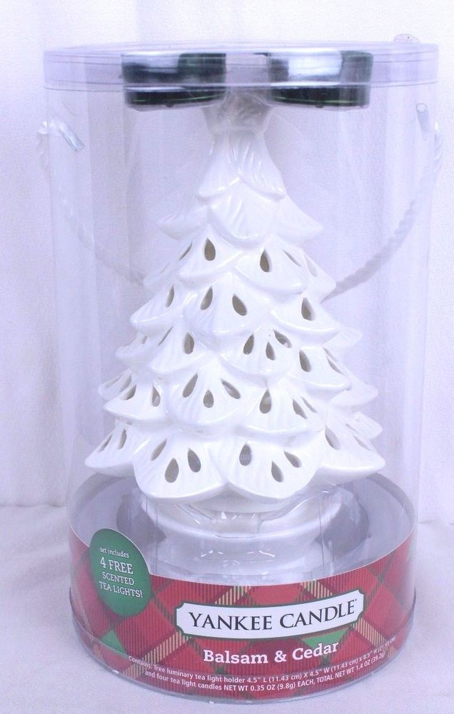 Yankee Candle Christmas Tree Pierced Ceramic 1350481 Balsam Cedar Tea Lights Yankeecandle Yankee Candle Christmas Yankee Candle Ceramic Christmas Trees