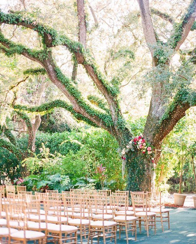 Outdoor Wedding Ceremony Orlando: Joann & Nate's Gorgeous Miami Wedding Is On @ruffledblog