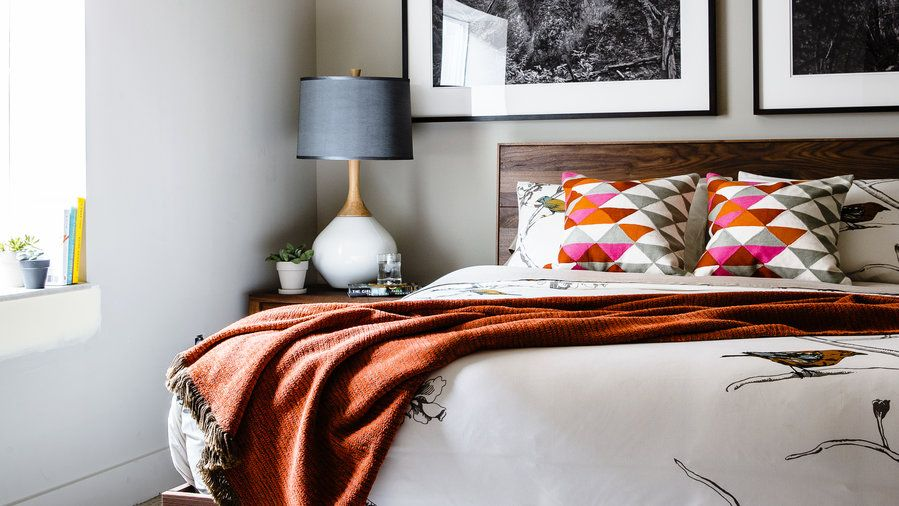 Warm accents   Dream in color with inspiration from our favorite bright bedrooms