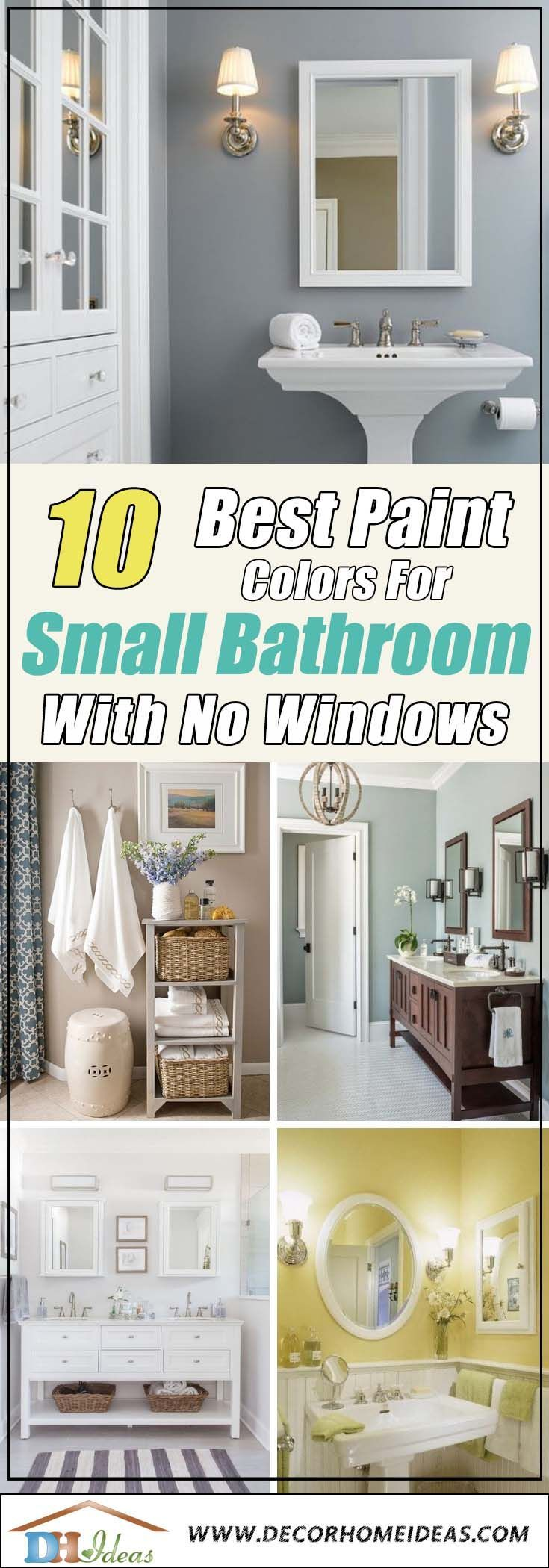 Photo of 10 Best Paint Colors for Small Bathrooms WIth No WIndows