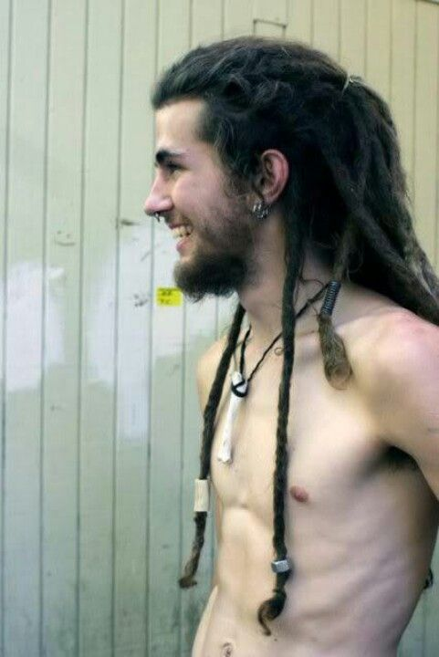 Nude guy with dreads