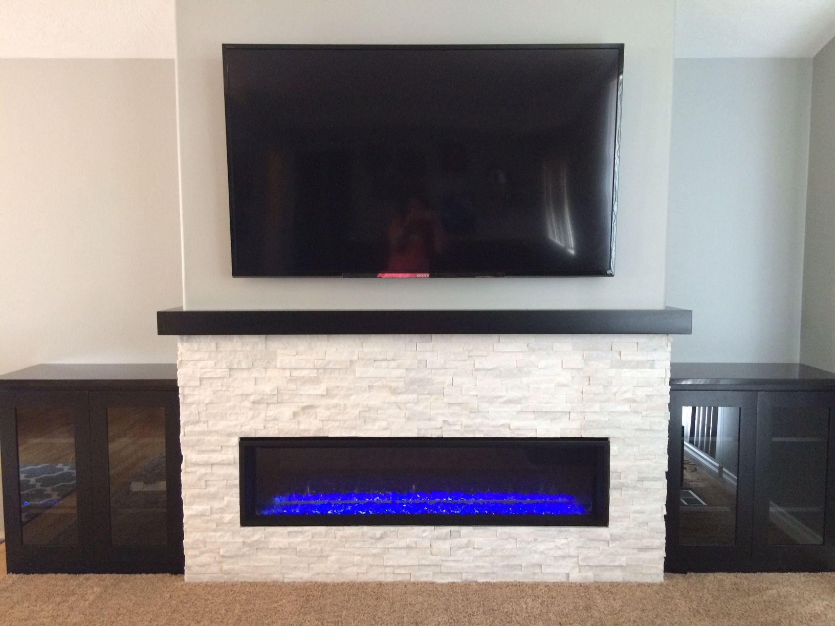 linear fireplace remodel for the home pinterest