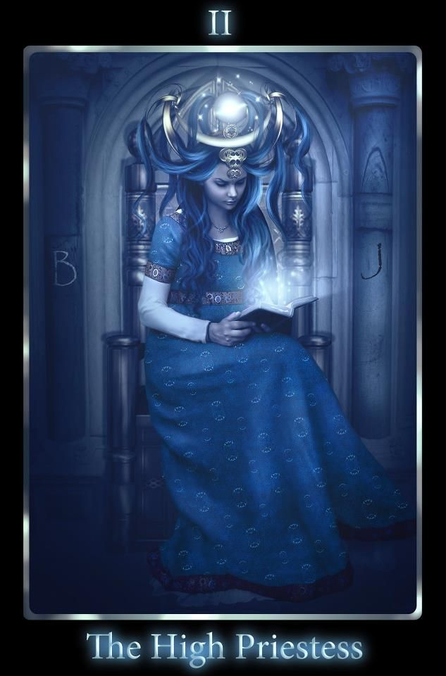 """The High Priestess is aligned with the Moon and represented in the Moon-Goddess Isis in her various guises.  (See the rest on and 'Like' us on http://facebook.com/ATarotADay)  Image """"The High Priestess"""" © mari-na.deviantart.com"""