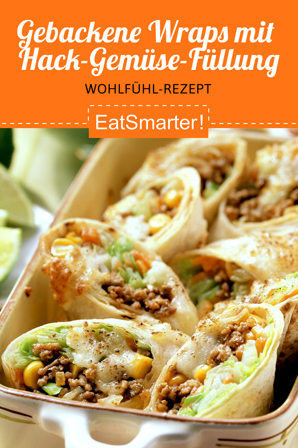 Photo of Baked wraps with mince and vegetable stuffing