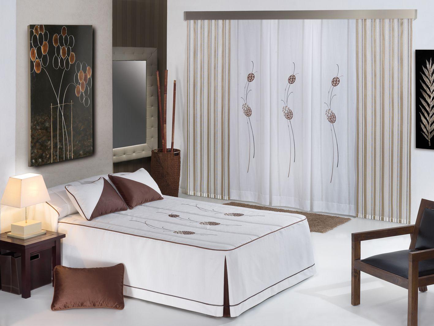 habitacin coordinada colcha edredon y cortina