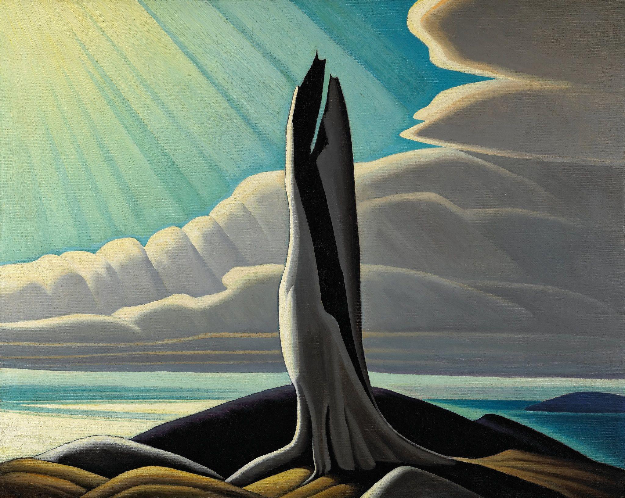 """North Shore, Lake Superior"" by Canadian artist Lawren Harris. Credit NGC/via Family of Lawren S. Harris"