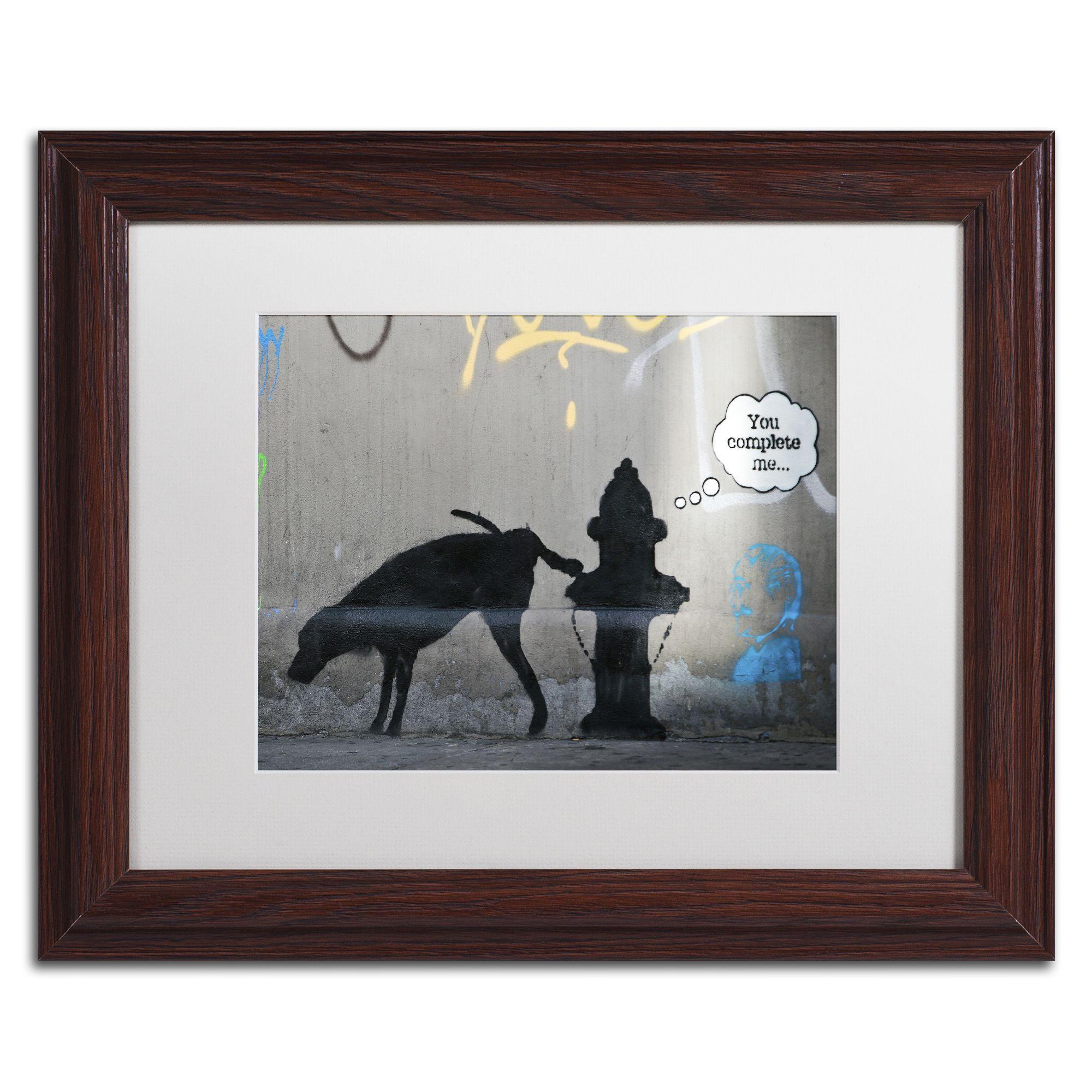 Banksy uyou complete meu matte wood framed wall art products