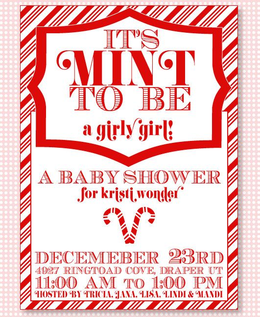 Christmas Baby Shower Party PRINTABLE Invitation By Love The Day. $15.00,  Via Etsy.
