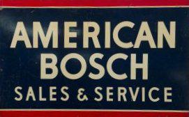 American Bosch Sales Service Porcelain Sign Porcelain Signs Advertising Signs Porcelain Signs Bosch