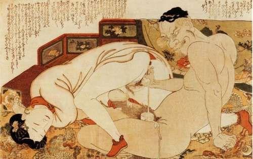 Японские порно гравюры