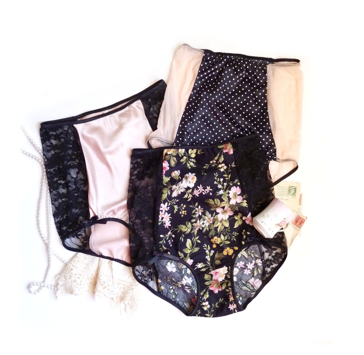 High Waist Panties \'Pin Up Collection\' Three for Eighty Ohhh Lulu ...