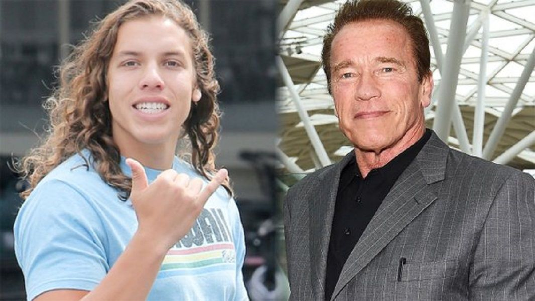 Arnold Schwarzenegger S Love Child Joseph Baena Looks Just Like Him Celebrity Kids Who Look Just Lik Celebrity Kids Schwarzenegger Son Arnold Schwarzenegger