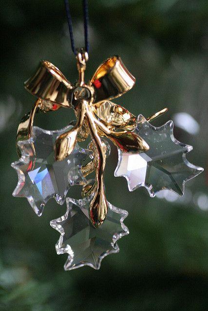 Swarovski crystal Christmas tree ornament.